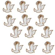 White Dove Lapel Pin (12 Pins) Christian Holy Spirit , Peace Dove