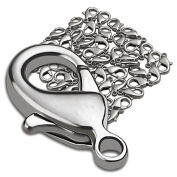 eForCity® 50 Pieces Lobster Clasps, Silver, 12mm