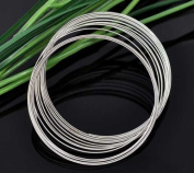 Housweety 200 Loops Memory Beading Wire for Bracelet 50-55mm