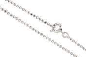 16Inch Necklace Ball Chain, Silver Plated 1.5mm Ball With Springring Clasp