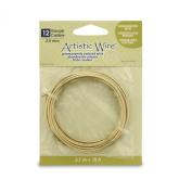 Artistic Wire 12 Gauge Wire, Tarn Resist Brass, 3m