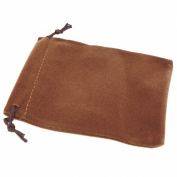 Pack of 12 Brown Colour Soft Velvet Pouches w Drawstrings for Jewellery Gift Packaging, 9x12cm