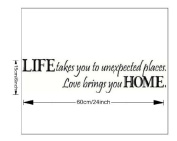 Life Takes You to Unexpected Places Word Art Decor Home Decor Wall Sticker
