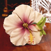 Hummingbird & Hibiscus Clock - Hand Painted Flower Clock By Ibis & Orchid Designs