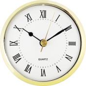 7.6cm - 1.3cm White Roman Clock Insert
