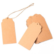 W8sunjs Brown Kraft Paper Hang Tags Wedding Party Favour Punch Label Price GiSquare ft Shape