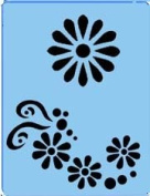 Face Painting Stencil - QuickEZ/Daisy #13