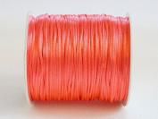 CORAL RED 1mm Bugtail Satin Cord Shamballa Macrame Beading Nylon Kumihimo String