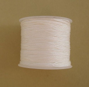 BeadsTreasure White Nylon Thread Chinese Knotting Cord Macrame Shambala 1mm-1Roll.