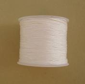 BeadsTreasure White Nylon Thread Chinese Knotting Cord Macrame Shambala 1mm-1Roll.