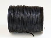 BLACK 1mm Bugtail Satin Cord Shamballa Macrame Beading Nylon Kumihimo String