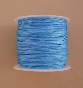 BeadsTreasure Sky Blue Nylon Thread Chinese Knotting Cord Macrame Shambala 1mm-1Roll.