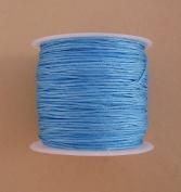 BeadsTreasure Sky Blue Nylon Thread Chinese Knotting Cord Macrame Shambala 1mm-1Roll.