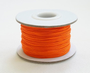 ORANGE 0.8mm Chinese Knot Nylon Braided Cord Shamballa Macrame Beading Kumihimo String