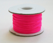 HOT PINK 0.8mm Chinese Knot Nylon Braided Cord Shamballa Macrame Beading Kumihimo String