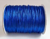 BLUE 2mm Rattail Satin Cord Shamballa Macrame Beading Nylon Kumihimo String