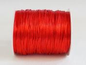 RED 1mm Bugtail Satin Cord Shamballa Macrame Beading Nylon Kumihimo String