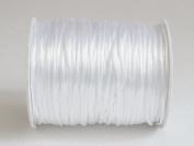 WHITE 1mm Bugtail Satin Cord Shamballa Macrame Beading Nylon Kumihimo String