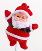 Package of 12- Flocked Santa Picks - Perfect for Winter Floral Arrangements and Any Christmas Decor!