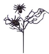 Black Spider Halloween Spray [HW1526B]