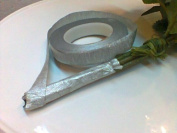 Silver Floral Tape 1.3cm X 30 Yards.. Streach a Little During the Application to Get the Best Result