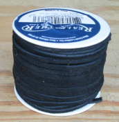 Lace Lacing Leather Suede Black 25 Yard Spool