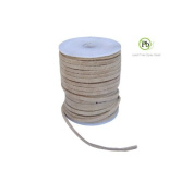 Genuine Suede Leather Lace Natural 3x1.7mm 10 Metres