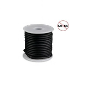 Round Rubber Cord Black 4mm 5 metres / 5.4 Yards.