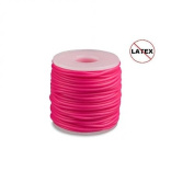 Round Rubber Cord Hot Pink 2mm 5 Metres / 5.4 Yards.