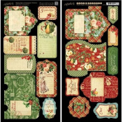 Graphic 45 12 Days of Christmas Tags and Pockets Card Stock Sheets