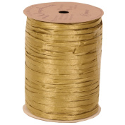 JAM Paper & Envelope Gold 100 Yard Spools of Wraphia (Wraffia) Ribbon - Sold individually