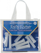 Knifty Knitter Replacement Pegs Large Semi Translucent 8/Pkg