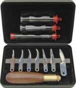 Warren Deluxe Wood Carving Knives & Tool Set / New