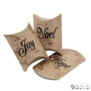 24 CHRISTMAS HOLIDAY SMALL PILLOW BOXES ~ HOPE JOY & NOEL ~ PARTY favour BOXES ~ FANCY AND ELEGANT