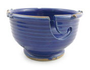 Anthony Stoneware Handmade Yarn Bowl, Royal Blue