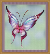 Flutter #1 Butterfly Cross Stitch Pattern