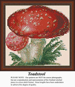 Toadstool, Vintage Counted Cross Stitch Pattern