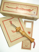 Oxford Wood Punch Needle Rug Hooking Tool #26cm Regular w/ Box Booklet