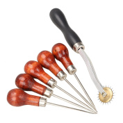 1 Set of 6 Overstitch Wheel with Awl Tool