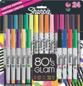 Sharpie Ultra Fine Point Permanent Markers, 24-Pack, 80's Glam Assorted Colours