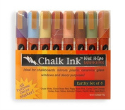 Chalk Ink 6mm Earthy Wet Wipe Markers, 8-Pack