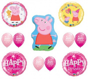 PEPPA PIG Happy Birthday PINK Balloon Set