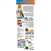 """""""COMBO No.5.1cm : 7 Yards Siser EasyWeed + 1 Yard Siser Glitter + 1 Yard Siser Fluorescent (Heat Transfer Vinyls) - Mix & Match your favourite colours - ."""