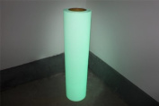 2yards PU Vinyl Glow In The Dark Heat Transfer Vinyl Cut by Cutting Plotter