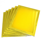 6 Aluminium Silk Screen Printing Press Screens 355 Yellow Mesh 50cm x 60cm