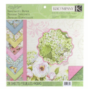 K & COMPANY 30-663459 28-Sheets 30cm x 30cm Speciaty Scrapbook Paper - Susan Winget Floral