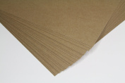 Premium HEAVY Chipboard Sheets (0.08cm ) - 22cm X 28cm Natural Kraft