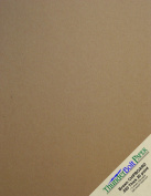 100 Sheets Chipboard 24pt (point) 20cm X 25cm Light Medium Weight Frame|Photo Size .024 Calliper Thick Cardboard Craft|Packing Brown Kraft Paper Board