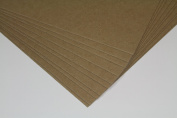 Premium EXTRA HEAVY Chipboard Sheets (0.1cm ) - 22cm X 28cm Natural Kraft