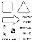 Karen Foster Design, Clear Stamp Set, Road Signs 1